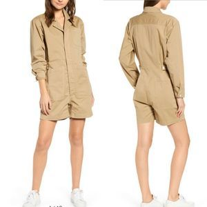 Alex Mill  Khaki Shorts Utility Romper